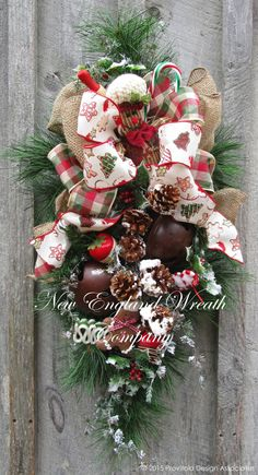 Gingerbread Holiday Sleigh Bell Swag  ~A New England Wreath Company Designer Original~