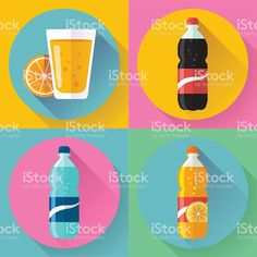 Flat Drink icons for web and applications royalty-free stock vector art Drink Icon, Free Vector Art, Soda, Royalty, Icons, Flat, Drinks, Image, Royals
