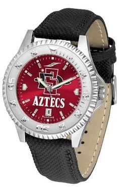 San Diego State Aztecs Men's Leather Wristwatch