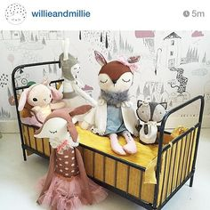 ......lovely #repost from @willieandmillie of one of my deer sitting pretty with her friends☺❤x #love #share #handmade #deer #friends #critters #cute