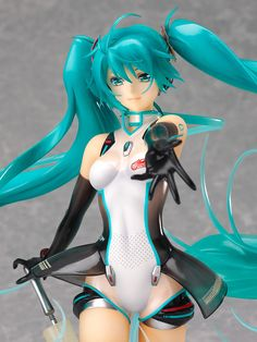This is the 2011 version of Racing Miku. Item from Japan. I'm Japanese and live in Japan. Hatsune Miku, Anime Sexy, Fantasy Figures, Action Figures, Anime Toys, Anime Figurines, Anime Merchandise, Good Smile, Figure Painting