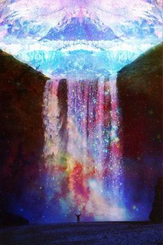 Image discovered by lesslie. Find images and videos about galaxy and waterfall on We Heart It - the app to get lost in what you love. Art Visionnaire, Inspiration Artistique, Psy Art, Foto Art, Believe In Magic, Art Graphique, Psychedelic Art, Trippy, Fantasy Art