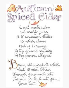 Make spiced cider a fall family tradition