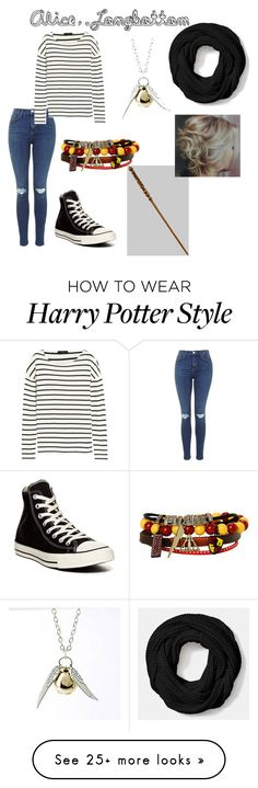 Harry Potter Polyvore featuring J.Crew, Converse and Coach