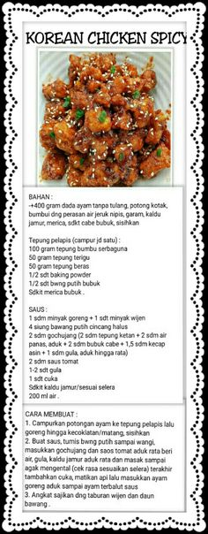 Meat Recipes, Asian Recipes, Chicken Recipes, Cooking Recipes, Western Food, Simply Recipes, Indonesian Food, Korean Food, Food Cravings