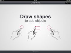 Lovery Charts: Create beautiful diagrams (flowcharts, sitemaps, org. charts, etc.) in minutes.  Using simple and natural gestures, you can literally draw diagrams as naturally as if you were sketching on paper.