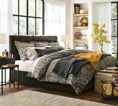 Update your bedroom for fall with cozy throws and new bedding.