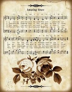 Amazing Grace and Roses Christian Sheet Music Hymn Hymnal Vintage Sheet Music, Piano Sheet Music, Music Sheets, Sheet Music Tattoo, Gospel Music, Music Lyrics, Sheet Music Crafts, Church Songs, Church Quotes