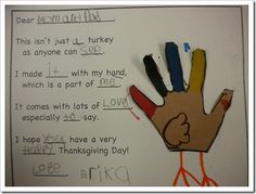 I LOVE this idea for Thanksgiving.  I usually just type up the whole poem, but I love the idea of having the kids write part of it.