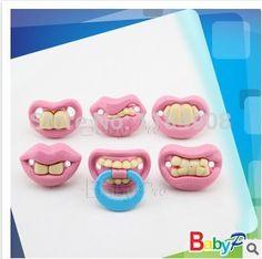 6piece-set-Funny-pink-Silicone-Baby-Pacifiers-Teether-Soother-Pacy-Orthodontic-Fasle-Nipples-Gift-Baby-Care