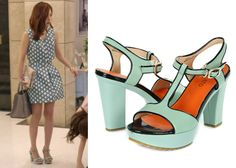 "Lee Young-Eun 이영은 in ""My Secret Hotel"" Episode 1.  Staccato Chunky-5 Sandals #MySecretHotel 마이 시크릿 호텔 #LeeYoungEun"
