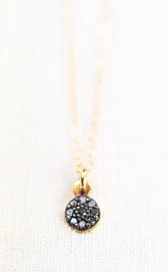 Auli'i necklace tiny diamond necklace diamond by kealohajewelry https://www.etsy.com/listing/178206243