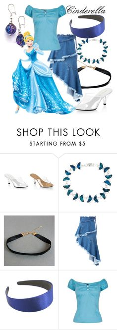 """Cinderella (A Disney-Inspired Outfit)"" by one-little-spark ❤ liked on Polyvore featuring Philosophy di Lorenzo Serafini, disney and disneybound"