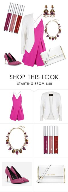 """""""Pretty in Pink"""" by eryn-shimizu on Polyvore featuring Topshop, River Island, Chloe + Isabel, CHARLES & KEITH, MICHAEL Michael Kors, chloeandisabel and candibling"""