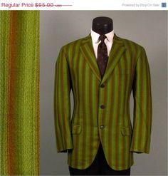 BIRTHDAY SALE Vintage Mens Sport Coat Jacket by jauntyrooster