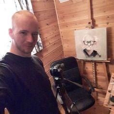 The hustle. Currently at 9 months of painting. . #art #artlife #painting #artist #artwork #portrait #creative #contemporaryart #oilpainting #fineart #modernart #canvas #hustle #passion #motivation #gjertsen #kunst #trondheim by tommygjertsen
