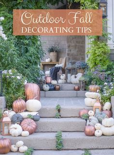How-to-make-copper-pumpkins in 15 minutes. DIY copper pumpkins- Decorating for fall with metallic pumpkins. Pumpkin Decorating, Porch Decorating, Decorating Ideas, Decor Ideas, Fall Home Decor, Autumn Home, Modern Fall Decor, Fall Winter, Rustic Outdoor Decor