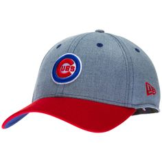 Chicago Cubs Denim and Red Bullseye Logo Flex Fit Hat by New Era Cubs Hat, Flex Fit Hats, Cubbies, Chicago Cubs, Baseball Hats, Logo, Denim, Unique, Red