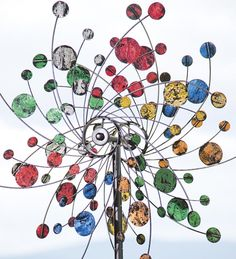 Confetti Wind Spinner in Colorful Metal | Garden Wind Spinners | Plow