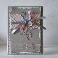 Grey and rose card.