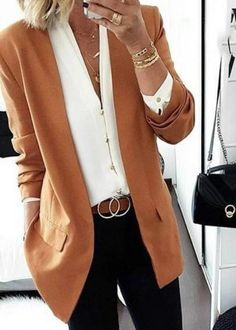 Blazer Outfits For Women, Business Casual Outfits For Women, Casual Work Outfits, Work Attire, Work Casual, Cute Outfits, Cute Office Outfits, Over 40 Outfits, Fall Outfits For Work