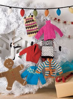 A perfectly pint-sized sweater, the Tiny Holiday Sweater Ornament also doubles as a gift card holder and allows you add a personal touch to your gift. Knit from the bottom up with simple raglan shaping, this miniature sweater is sure to warm up every knitter's holiday season!