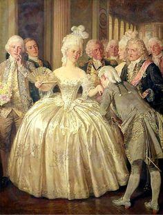 """""""A Court Belle, 1770"""" by Talbot Hughes (British 1869-1942)"""