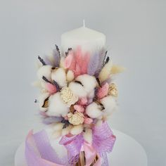 Pillar Candles, Christening, Lavender, Challenge, Clay, Concept, Business, Flowers, Wedding