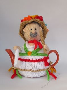 Morris Dancer Tea Cosy Knitting Pattern on CraftsUPrint http://www.craftsuprint.com/knitting/knitting/hand-knitting/morris-dancer-tea-cosy-knitting-pattern.cfm#.WKIABkrIt_I.twitter