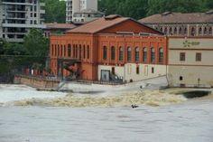 La Garonne très haute à Toulouse (Ramier)