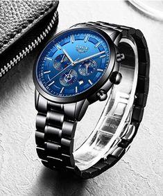 Quarz Uhr, Wasserdicht, Edelstahl Armband, in vielen weiteren Farben erhältlich #Geschenkidee #Armbanduhr Omega Watch, Rolex Watches, Fashion, Fashion Styles, Black Stainless Steel, Watches, Moda, Fashion Illustrations