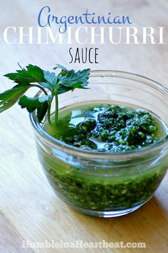 Everyone has their own recipe for Chimichurri sauce, but this one is just like how they make it in Argentina.