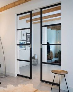 Slim Frame 50 Industrial Single-Double Pocket Doors Any Size Colour – Hamiltons Doors And Floors Pocket Door Handles, Glass Pocket Doors, Sliding Pocket Doors, Internal Glass Sliding Doors, Internal Double Doors, Bifold Glass Doors, Double Door Handles, Victorian Internal Doors, Kitchen Sliding Doors