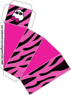 Monster High Printable Crafts | Monster High: Party Favor Boxes Free Printables.