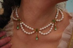 Reproduction Georgian Pearl Festoon Necklace by SignoftheGrayHorse