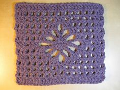 spider stitch crochet granny square