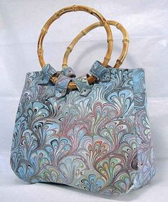 Hand Made Hand Marbled Purse by vansantdesigns on Etsy, $45.00