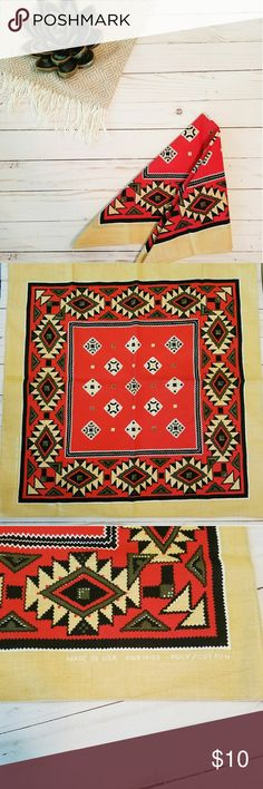 Native American Bandana Vintage Native American Bandana. Like new, never used. Perfect for Burning Man. Made in the US. Not sure the age. USA Accessories Scarves & Wraps