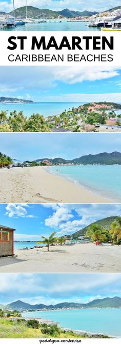 Caribbean beaches in St Maarten - Things to do near St Maarten cruise port, on Caribbean cruise without excursions, like beaches, restaurants, shopping in Philipsburg. There's popular airport beach Maho Beach, and best beach near cruise port for walking tour to beach and downtown and Old Street where you can buy cruise souvenirs and clothes for new outfits! Tips for your cruise to St Maarten that might include Grand Turk, San Juan Puerto Rico, St Kitts, Barbados, St Lucia. #cruise…