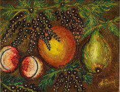 'Les cassis' (c.1915)  by French primitive painter Seraphine de Senlis (1864-1942). via Musee Senlis