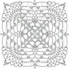 VK is the largest European social network with more than 100 million active users. Crochet Shawl Diagram, Crochet Motif Patterns, Granny Square Crochet Pattern, Crochet Blocks, Crochet Chart, Crochet Squares, Thread Crochet, Filet Crochet, Crochet Designs