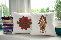Gingerbread House Pillows - so sweet