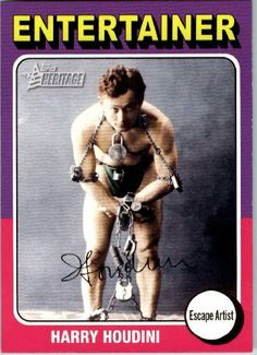 2009 Topps American Heritage Baseball Cards # 84 Harry Houdini (Escape Artist)(Entertainer) Trading Card by Topps. $1.87. 2009 Topps American Heritage Baseball Cards # 84 Harry Houdini (Escape Artist)(Entertainer) Trading Card