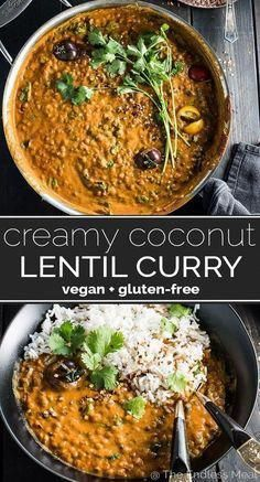 SAVE FOR LATER! This easy to make Creamy Coconut Lentil Curr