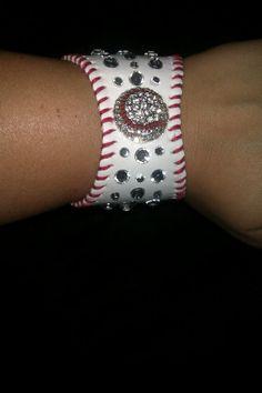 New Baseball Cuff Bracelet by JazzyJewlz2012 on Etsy, $30.00