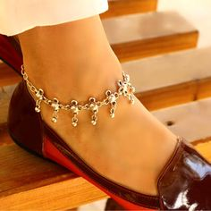 Silver Anklets, Silver Jewelry, Unique Jewelry, Trending Outfits, Handmade Gifts, Awesome, Etsy, Vintage, Kid Craft Gifts