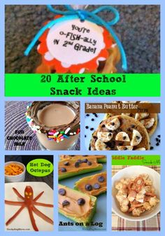 Here are 20 After School Snack Ideas to help you feed the kids when they walk in the door!