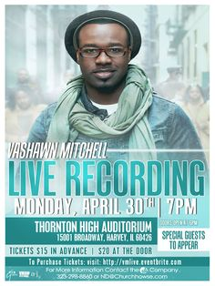 Vashawn Mitchell schedules live recording for April 30 in Ilinois