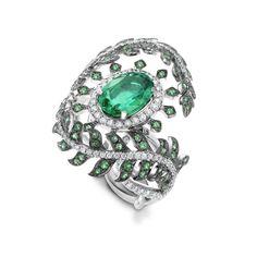 Crivelli emerald and diamond ring