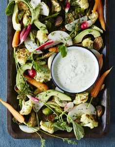 Josef Centeno's Recipe for Raw and Charred Winter Crudités With Ranch Vinaigrette